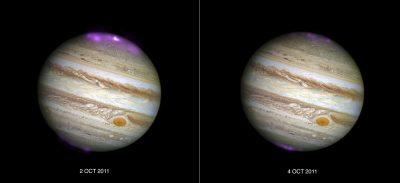 Jupiter auroras