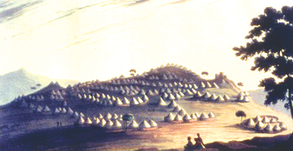 Painting of Kaditshwene by John Campbell