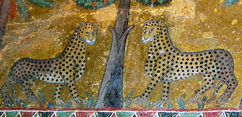 Leopard mosaci from Palermo